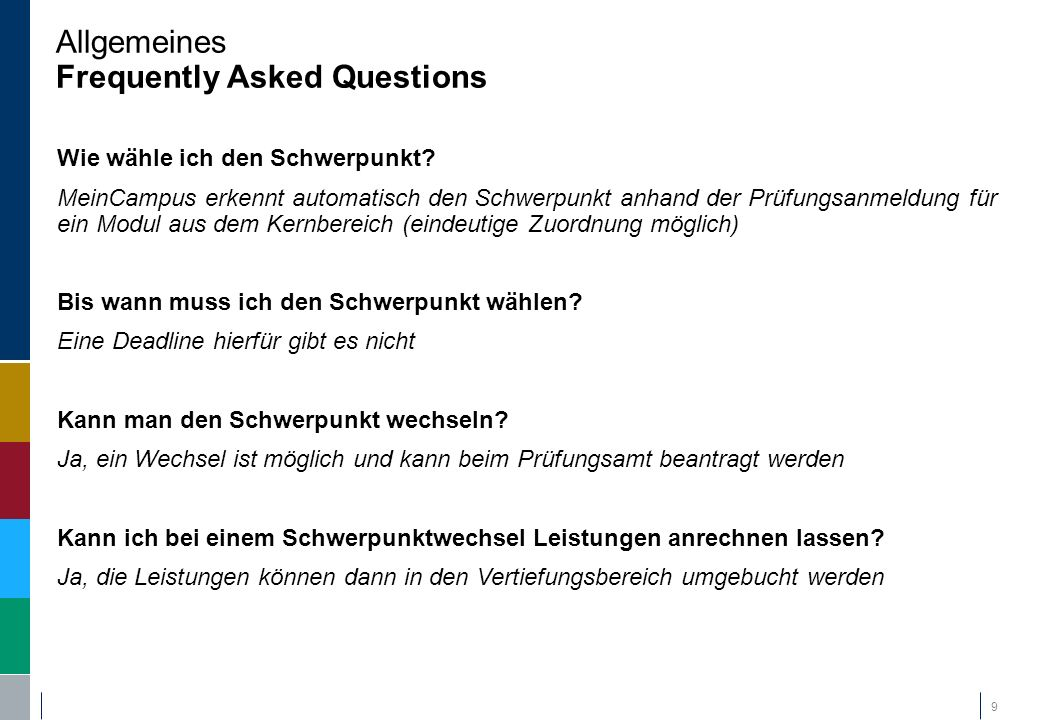 Allgemeines Frequently Asked Questions