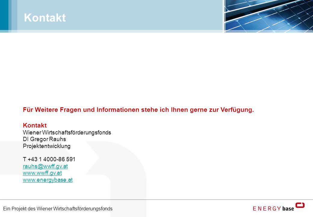 Kontakt Für Weitere Fragen und Informationen stehe ich Ihnen gerne zur Verfügung. Kontakt. Wiener Wirtschaftsförderungsfonds.