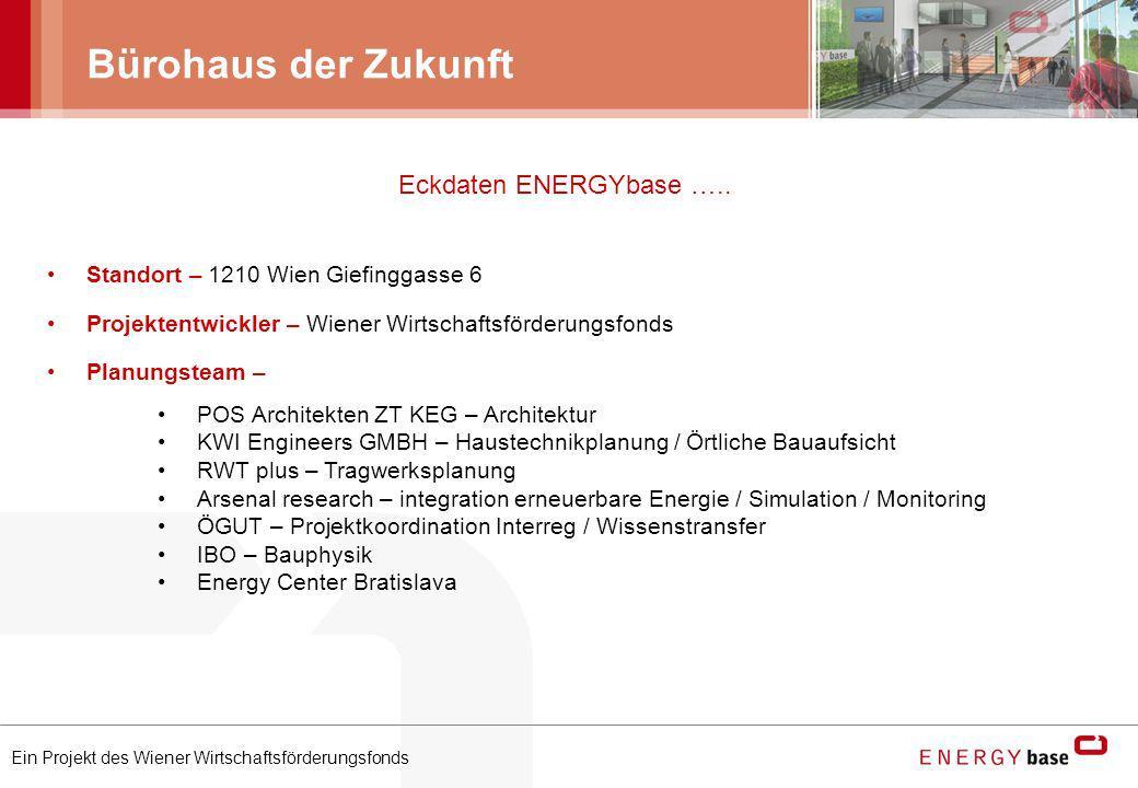 Bürohaus der Zukunft Eckdaten ENERGYbase …..