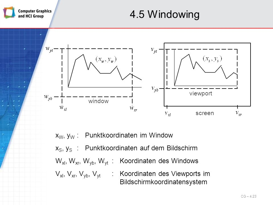 4.5 Windowing window. screen. viewport.