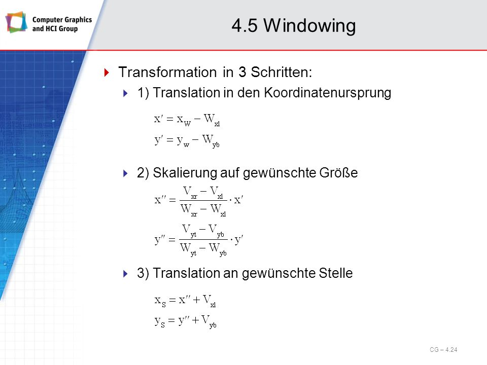 4.5 Windowing Transformation in 3 Schritten:
