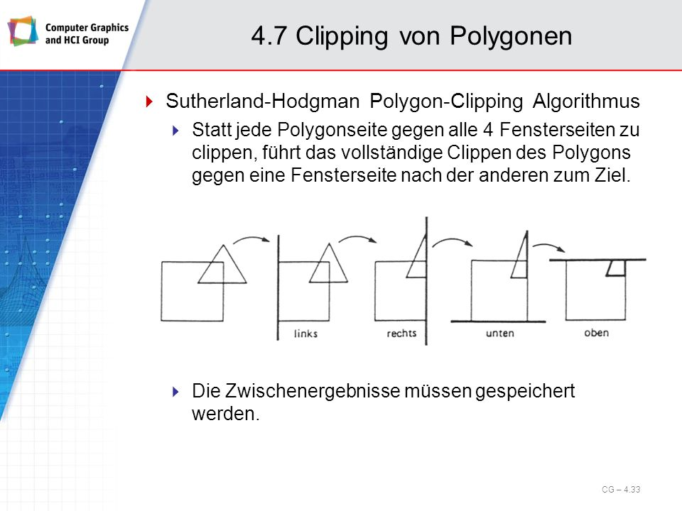 4.7 Clipping von Polygonen