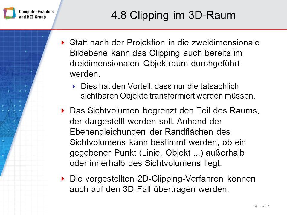 4.8 Clipping im 3D-Raum