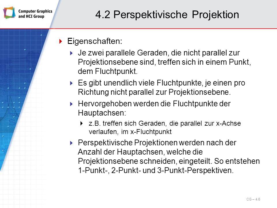 4.2 Perspektivische Projektion