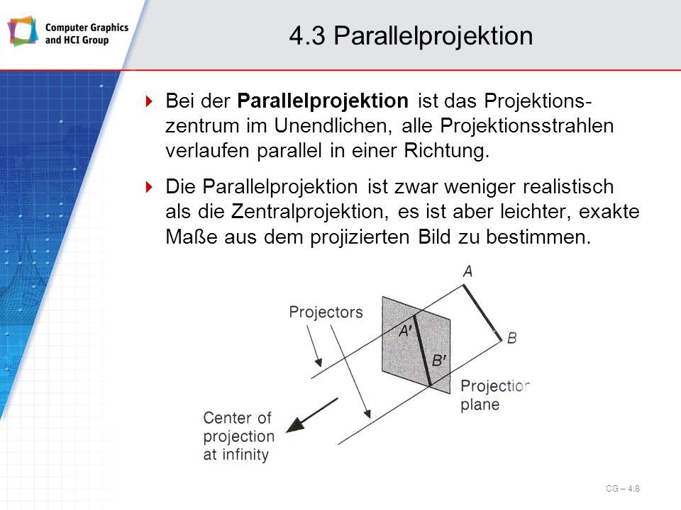 4.3 Parallelprojektion