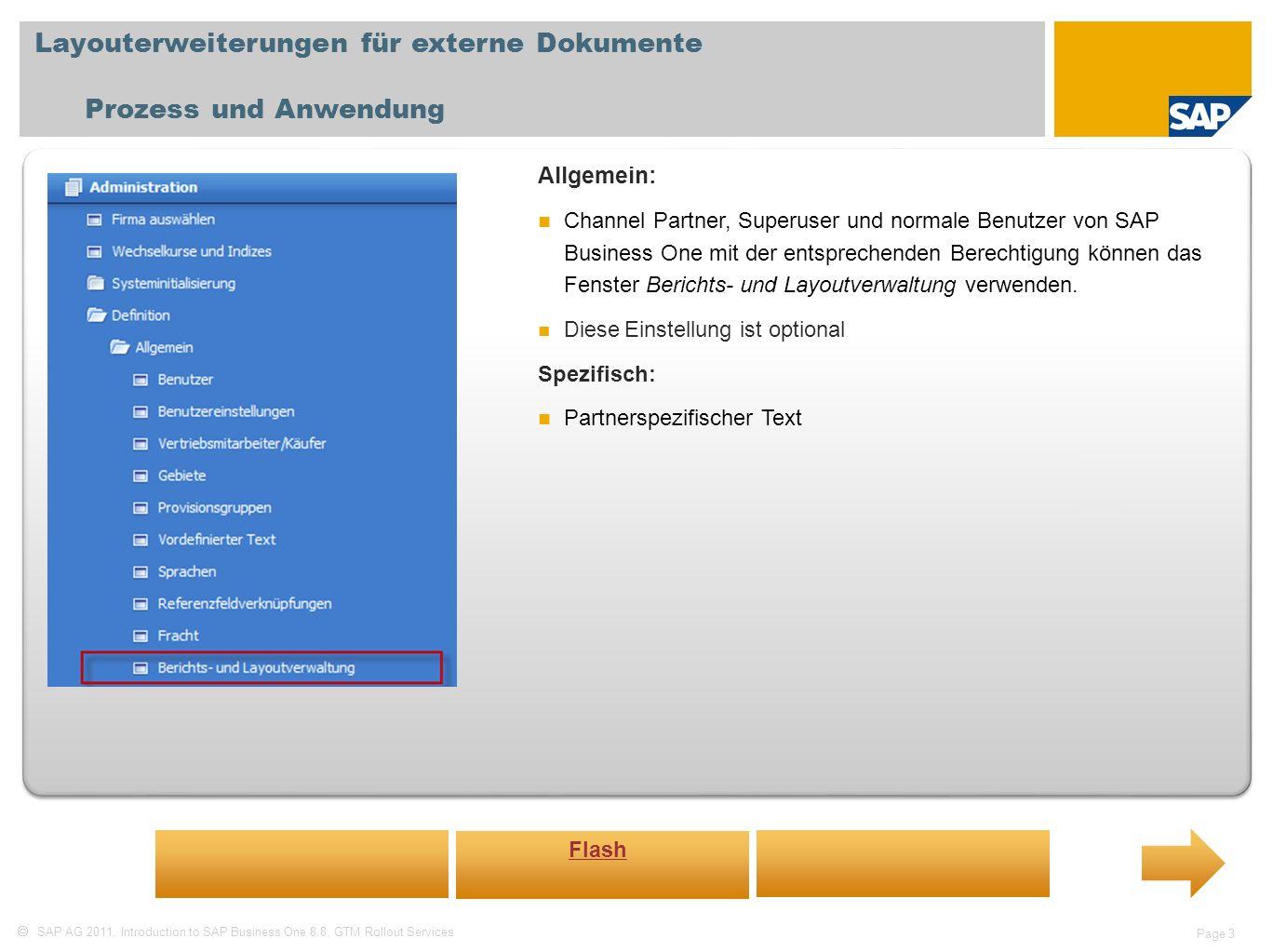 Layouterweiterungen für externe Dokumente Prozess und Anwendung