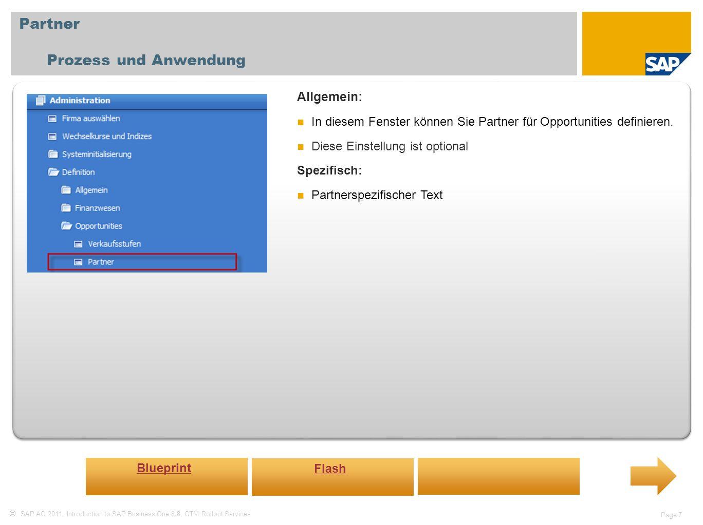 Partner Prozess und Anwendung Allgemein: