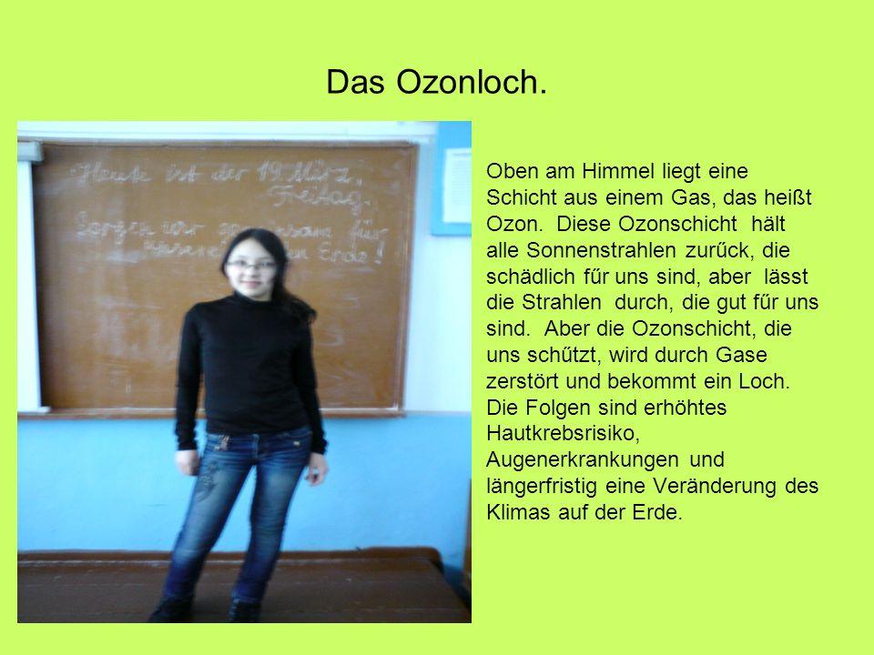 Das Ozonloch.