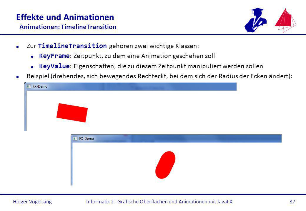 Effekte und Animationen Animationen: TimelineTransition