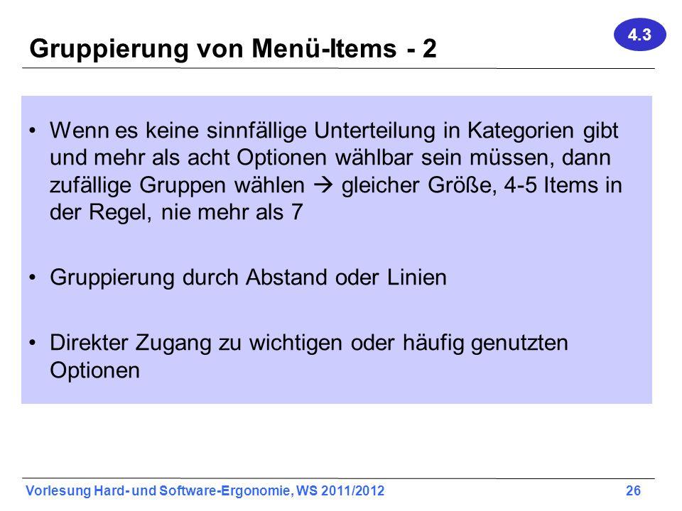 Gruppierung von Menü-Items - 2