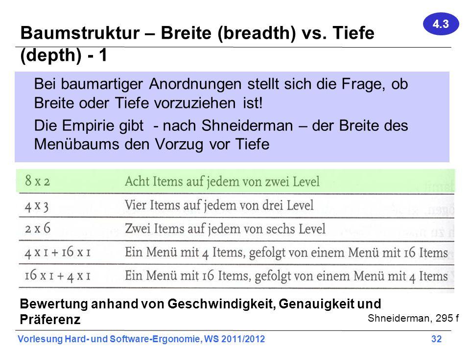 Baumstruktur – Breite (breadth) vs. Tiefe (depth) - 1
