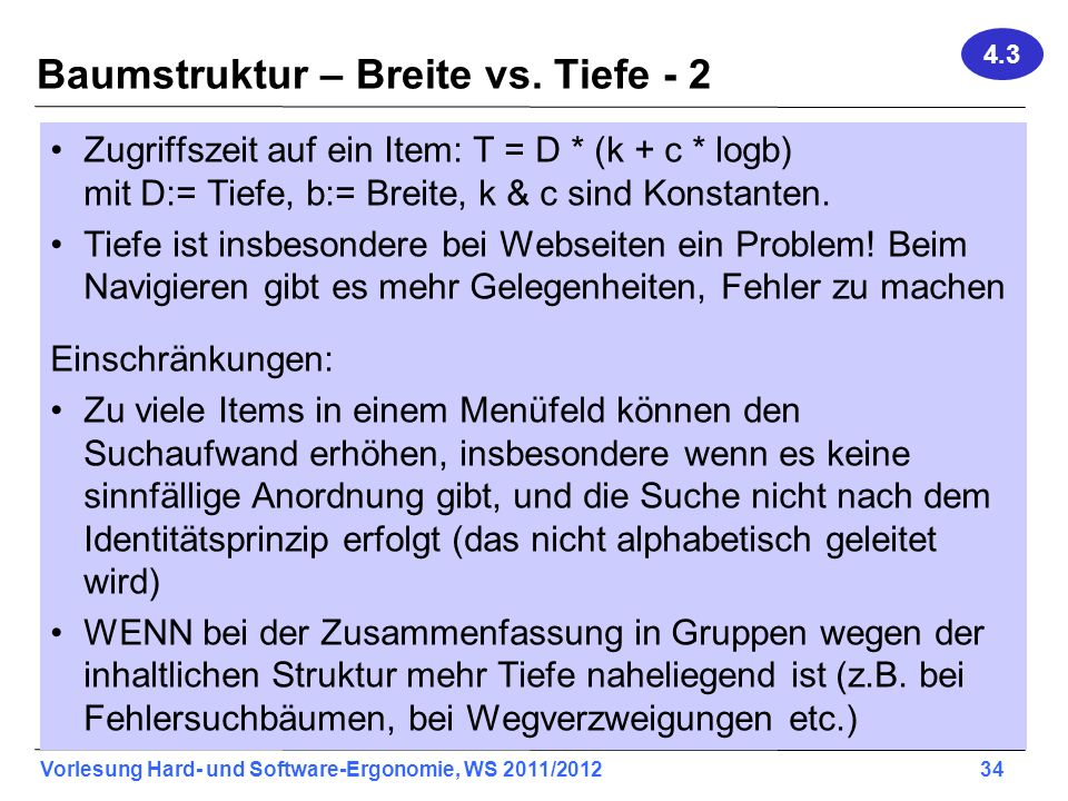 Baumstruktur – Breite vs. Tiefe - 2