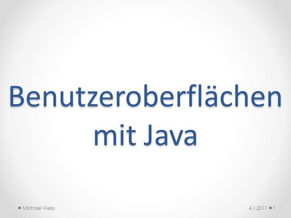Benutzeroberflächen mit Java