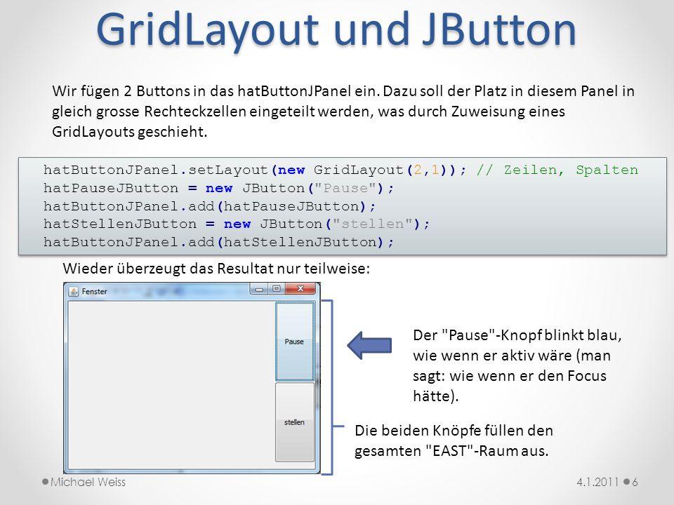 GridLayout und JButton