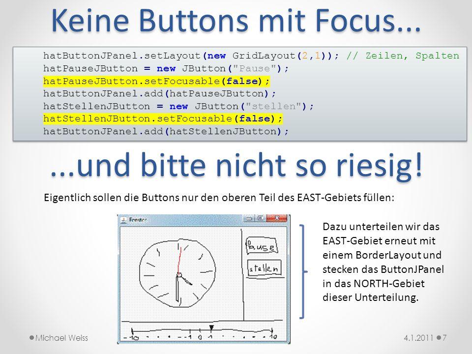 Keine Buttons mit Focus...