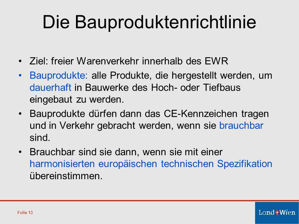 Die Bauproduktenrichtlinie