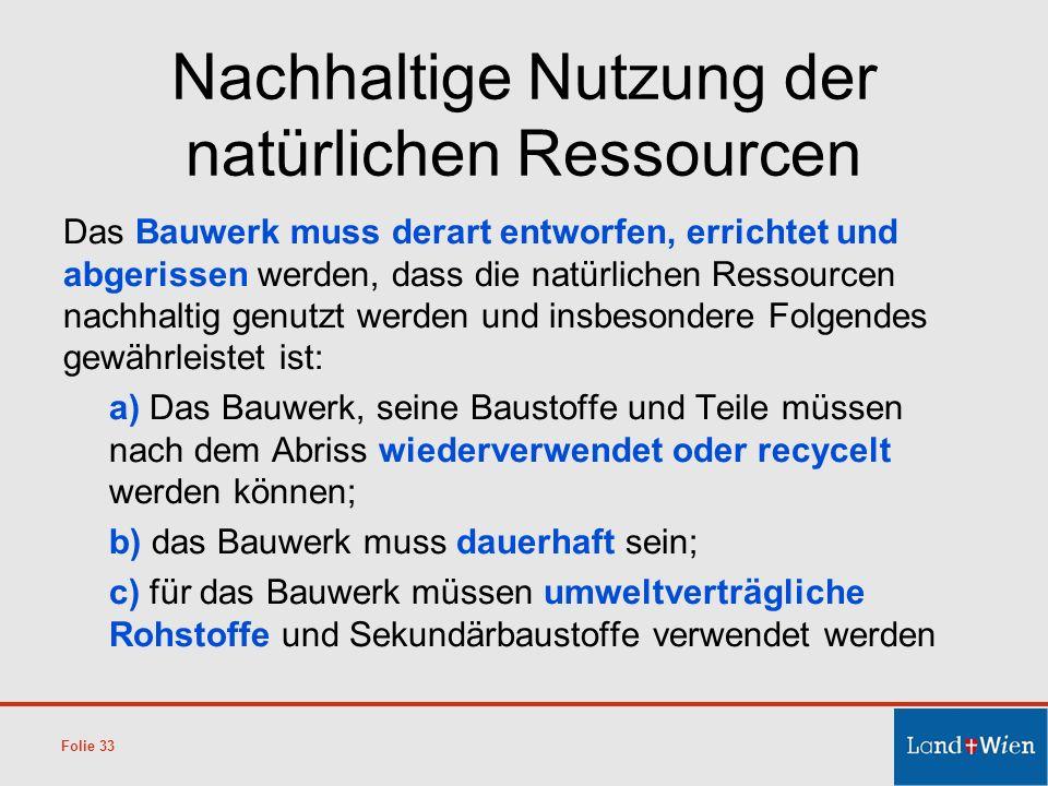 Nachhaltige Nutzung der natürlichen Ressourcen