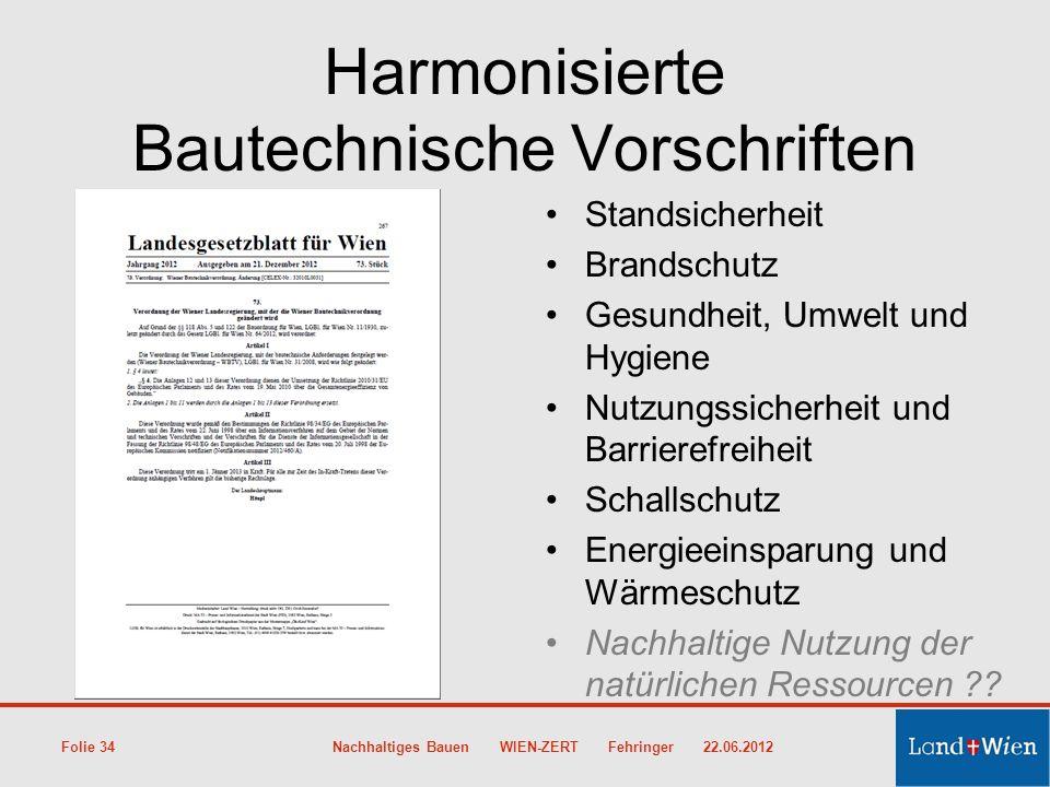 Harmonisierte Bautechnische Vorschriften