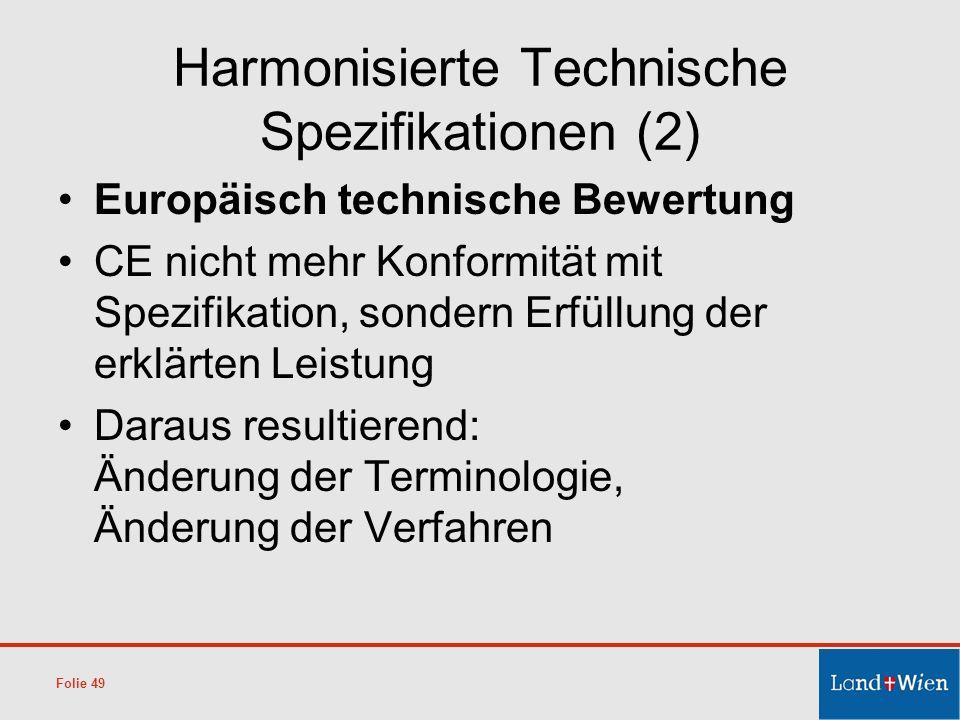 Harmonisierte Technische Spezifikationen (2)