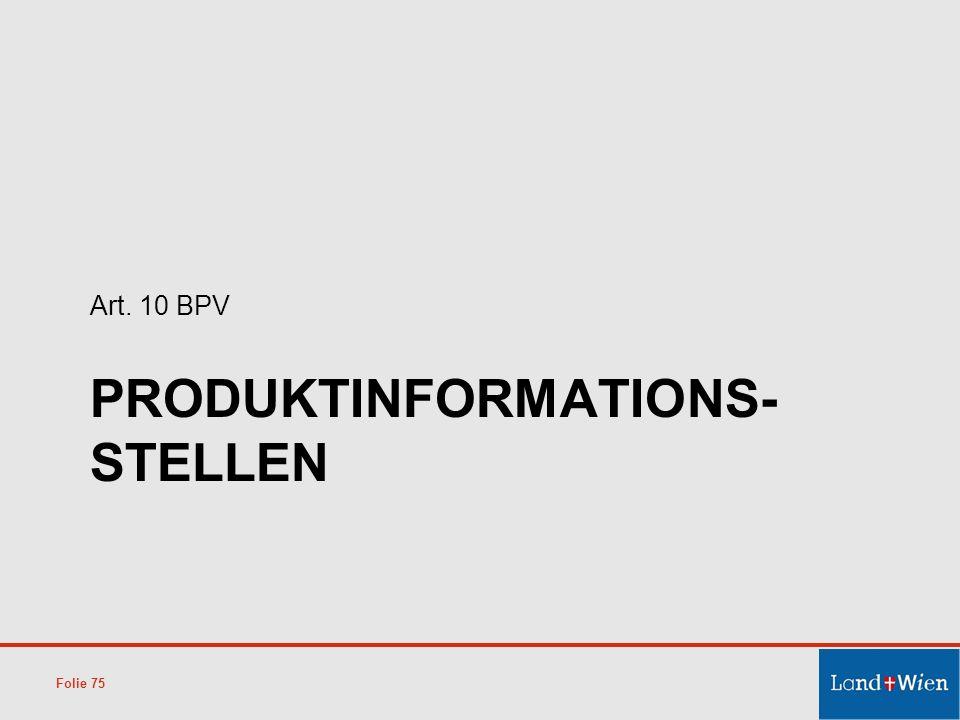 Produktinformations-stellen