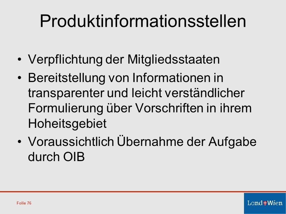 Produktinformationsstellen