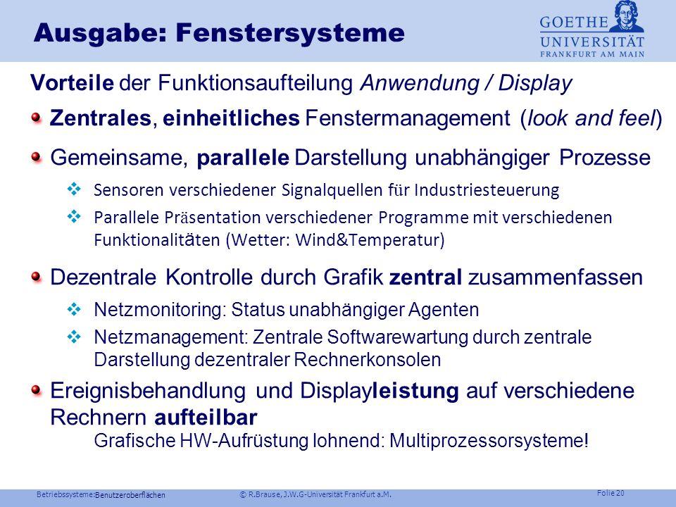 Ausgabe: Fenstersysteme