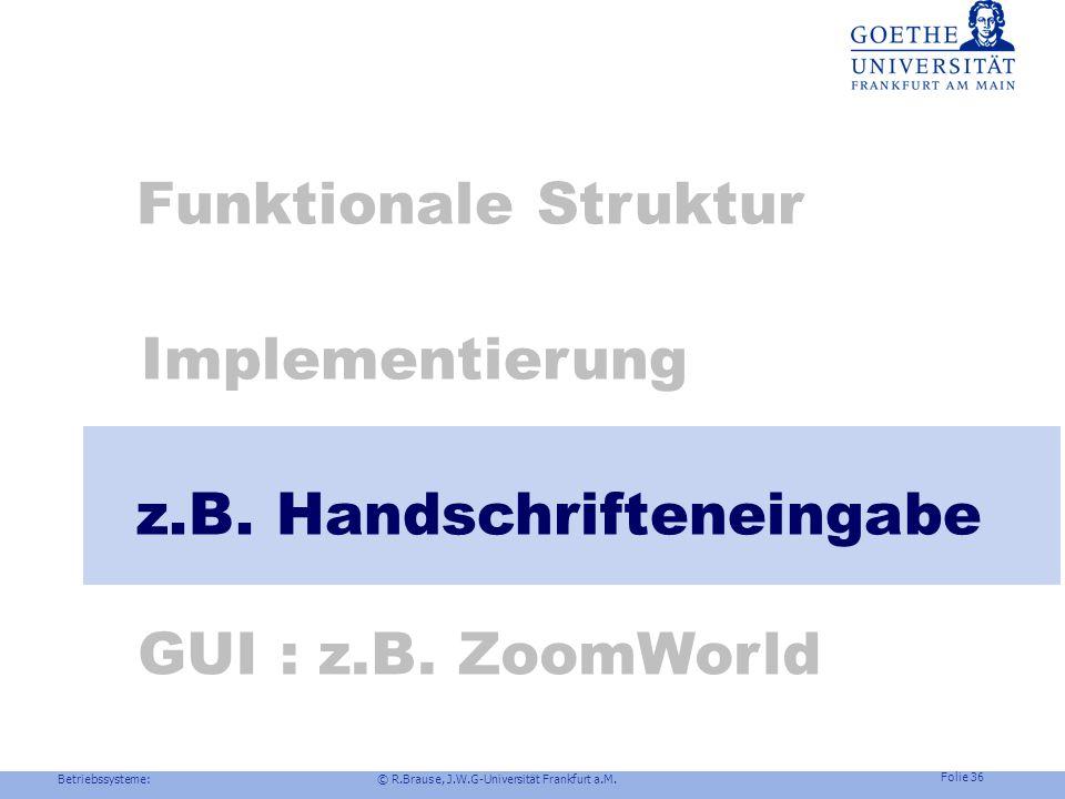 z.B. Handschrifteneingabe