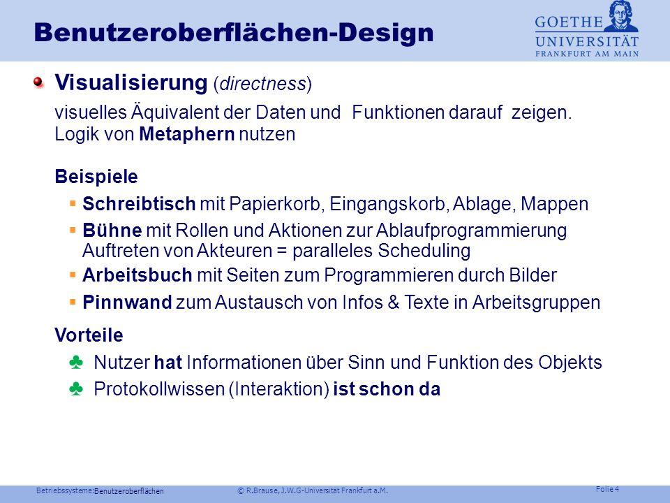Benutzeroberflächen-Design