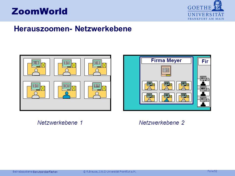 ZoomWorld Herauszoomen- Netzwerkebene Netzwerkebene 1 Netzwerkebene 2