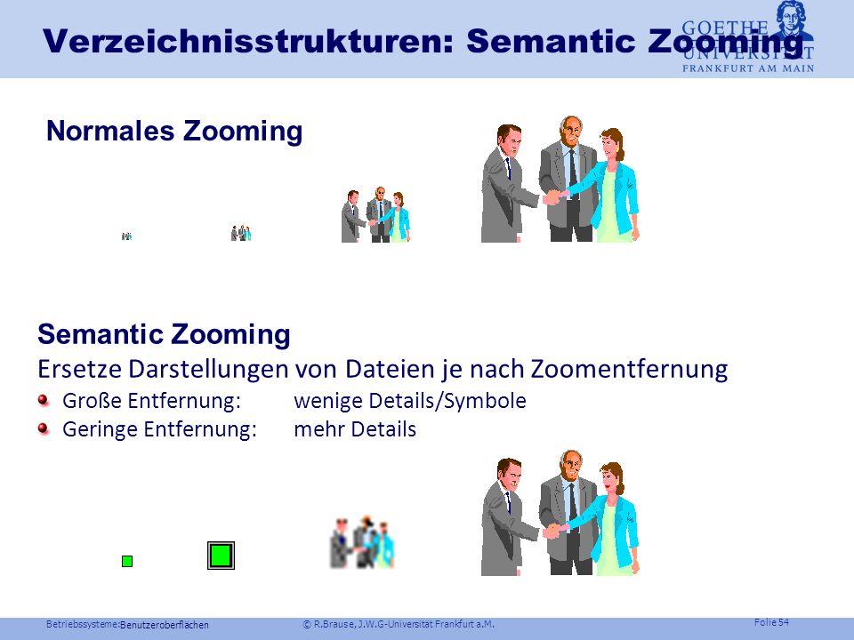 Verzeichnisstrukturen: Semantic Zooming