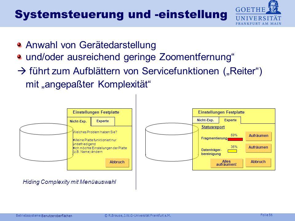 Systemsteuerung und -einstellung
