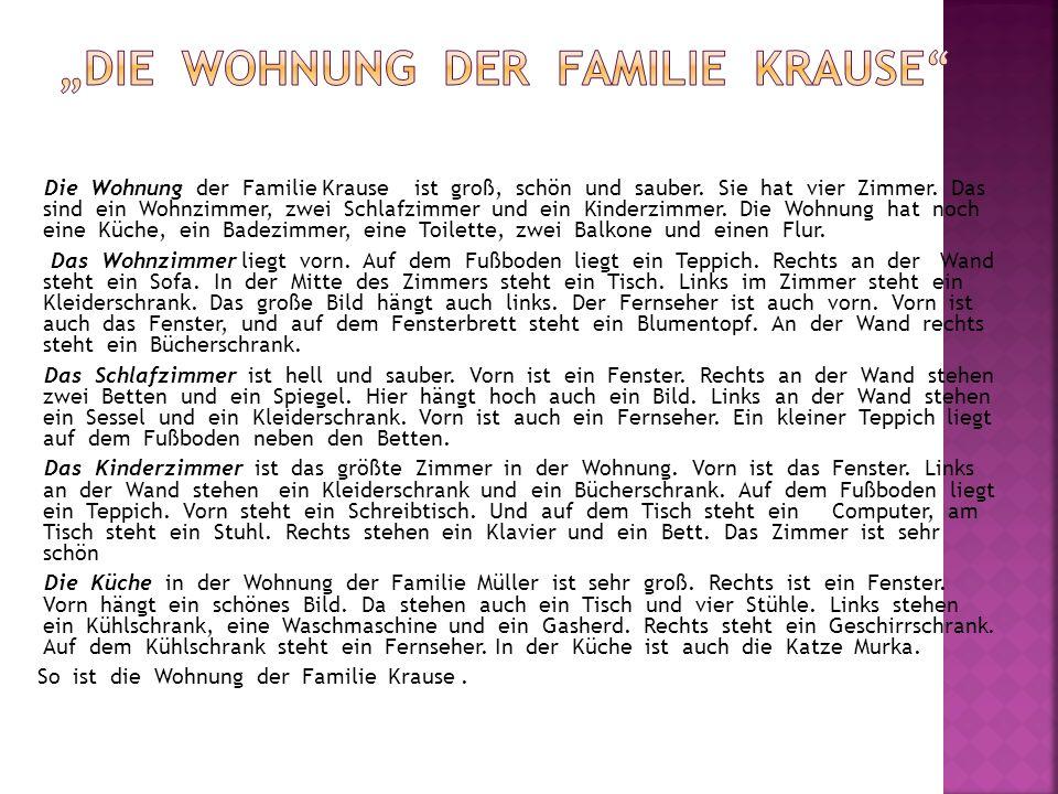 """""""Die Wohnung der Familie Krause"""