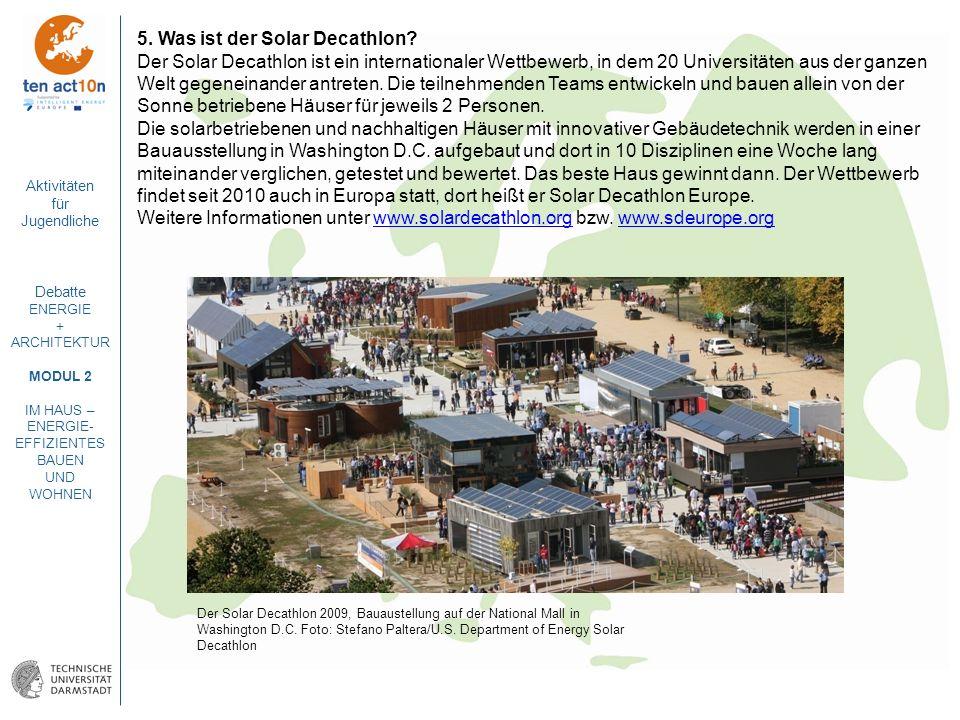 5. Was ist der Solar Decathlon