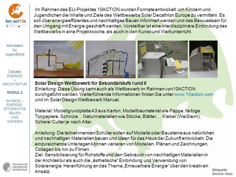 Solar Design Wettbewerb für Sekundarstufe I und II