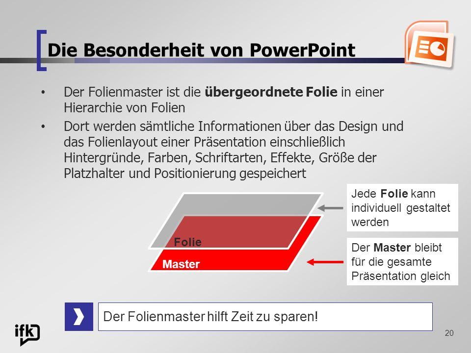 Die Besonderheit von PowerPoint