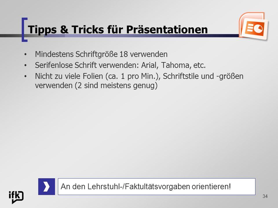 Tipps & Tricks für Präsentationen
