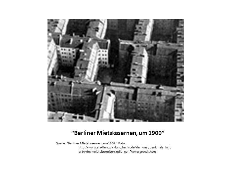 Berliner Mietskasernen, um 1900