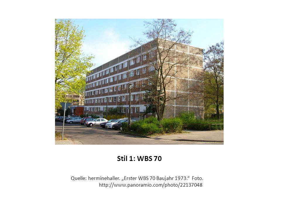 """Stil 1: WBS 70 Quelle: herminehaller. """"Erster WBS 70 Baujahr 1973. Foto."""