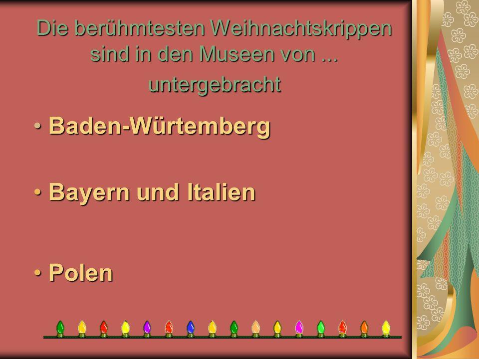 Baden-Würtemberg Bayern und Italien Polen