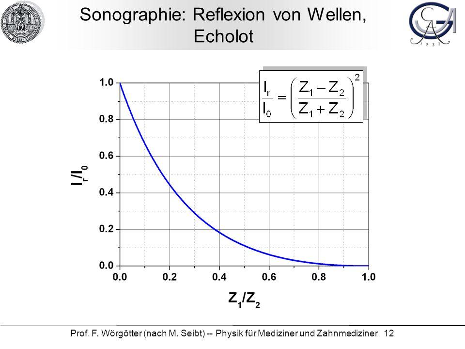 Sonographie: Reflexion von Wellen, Echolot