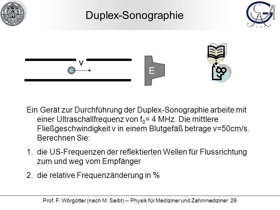 Duplex-Sonographie v E