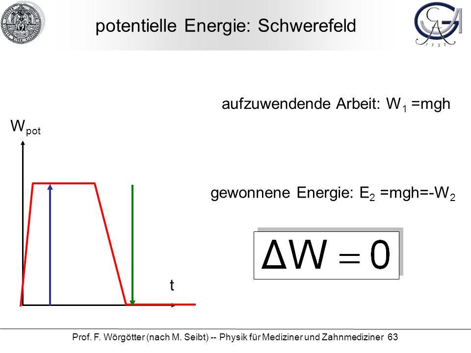 potentielle Energie: Schwerefeld