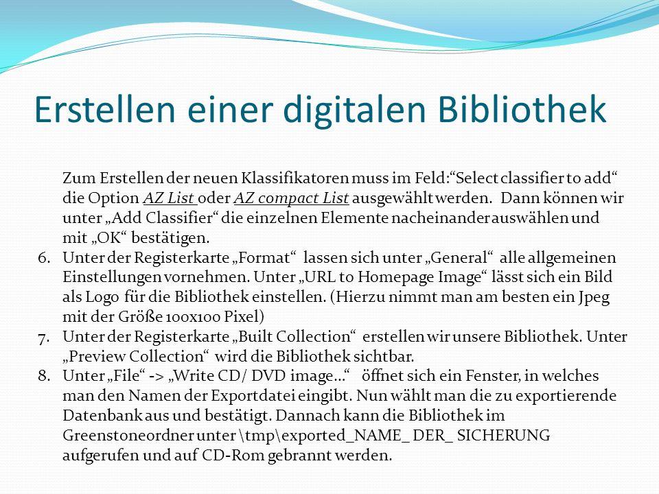 Erstellen einer digitalen Bibliothek