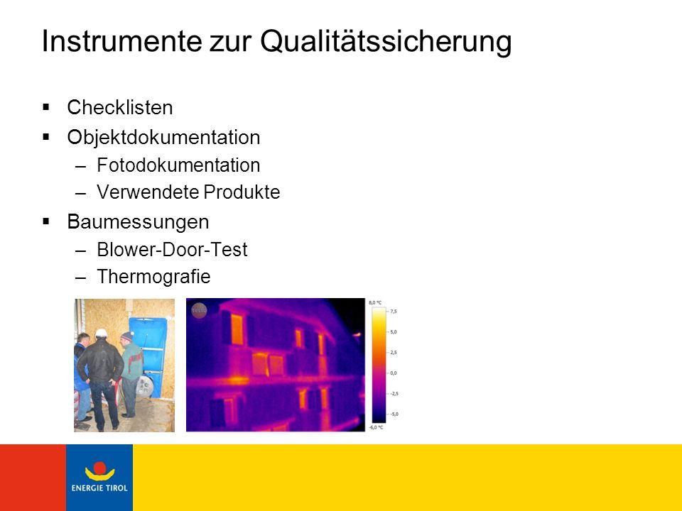 Instrumente zur Qualitätssicherung