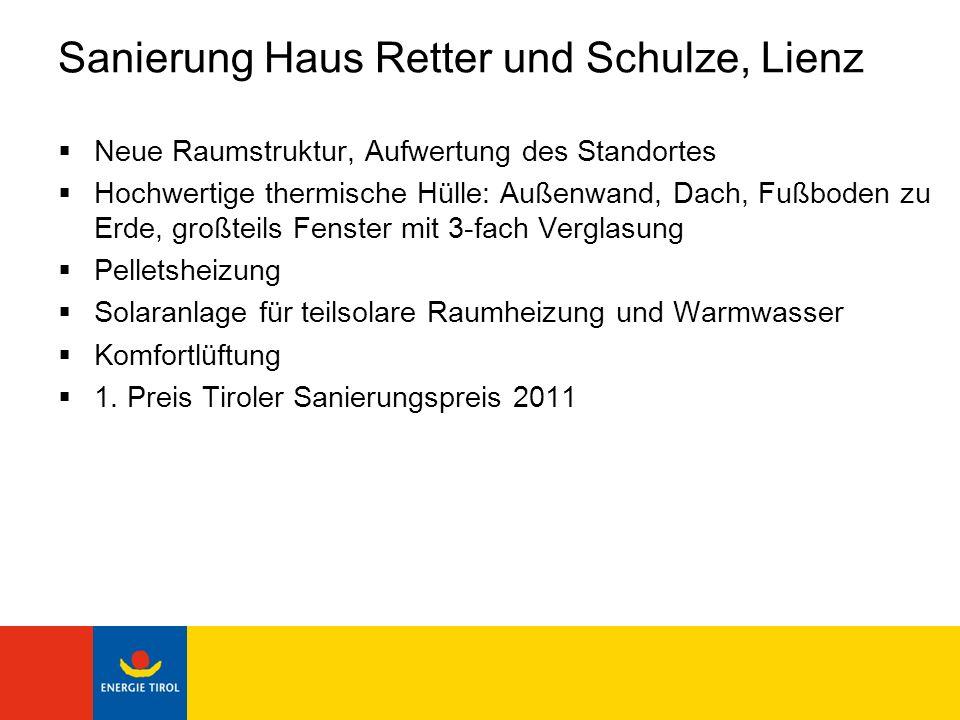 Sanierung Haus Retter und Schulze, Lienz