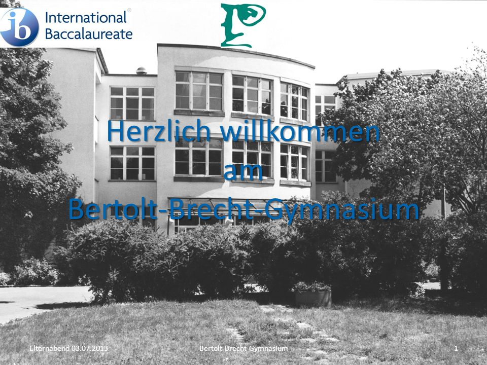 Herzlich willkommen am Bertolt-Brecht-Gymnasium