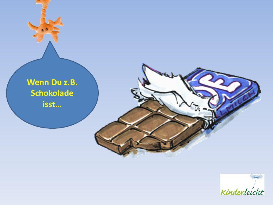 Wenn Du z.B. Schokolade isst…