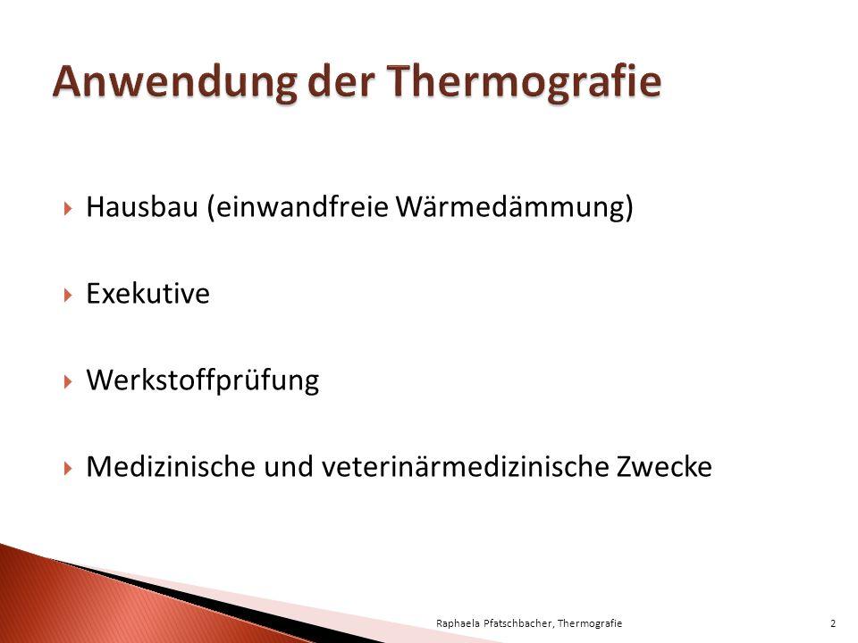 Anwendung der Thermografie