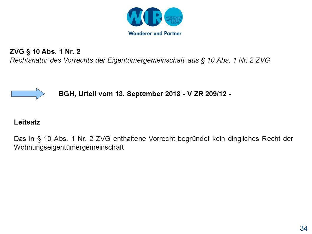 BGH, Urteil vom 13. September 2013 - V ZR 209/12 -