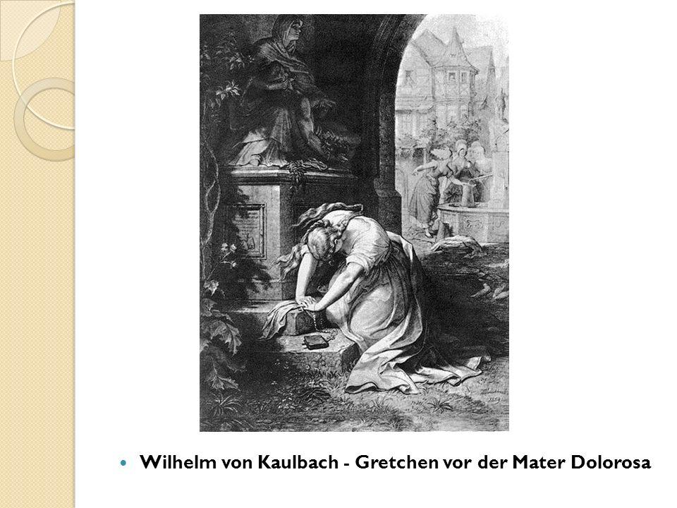 Wilhelm von Kaulbach - Gretchen vor der Mater Dolorosa
